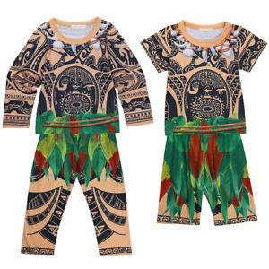 d385c32b Kid Boy Maui Boys Tattoo Cosplay Clothing T-shirt Pants Halloween ...