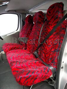 VW-CRAFTER-VAN-2007-MODEL-SEAT-COVERS-BURGUNDY-TIGER-FAUX-FUR-SINGLE-DOUBLE