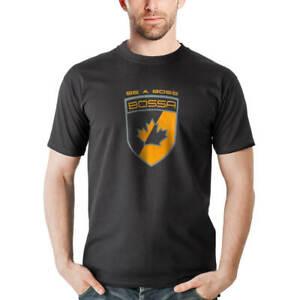 BOSSA Black Graphic Short Sleeve Cotton Work T-Shirt