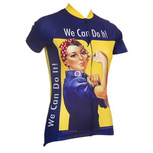 ROSIE DER RIVETER FRAUEN'S SHORT SLEEVE Radfahren JERSEY- by Retro Image Apparel