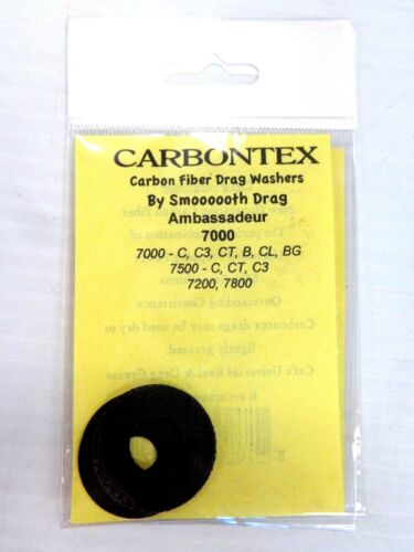 Carbontex Carbon Fiber Drag Rondelles Abu Garcia 7000 C C3 Compact B CL 7500 C Compact C3