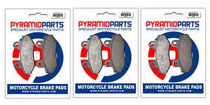 Front & Rear Brake Pads (3 Pairs) for Italjet 650 Bazooka 2006