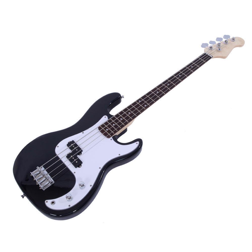 Brand Black 4 String Burning Fire Electric Bass Guitar Ebay Rogue Output Jack Wiring