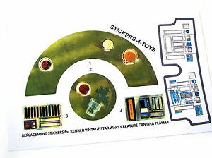 R2-D2 Green  Replacement  STICKER  Perfect!!! For Vintage R2