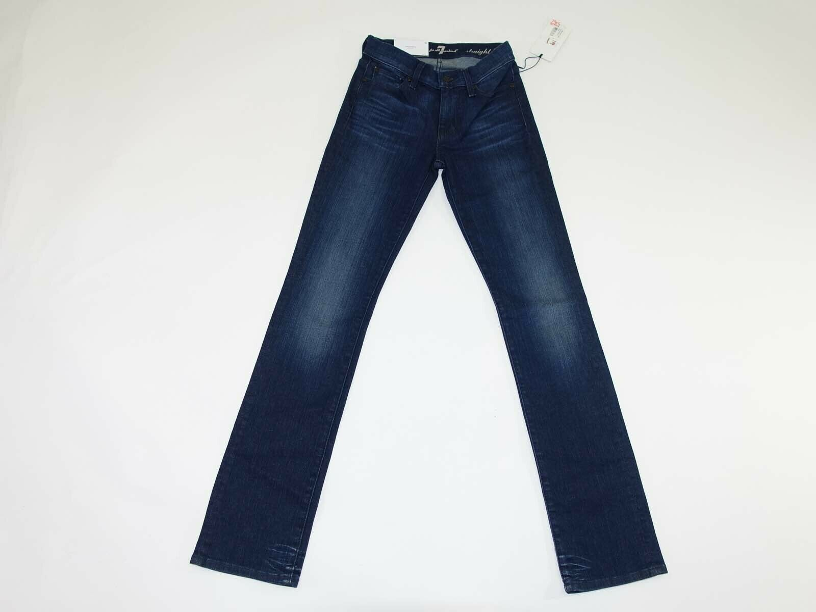 7 For All Mankind Women's Classic Straight Leg Jeans Size 23 x 31 NWT Dark Wash