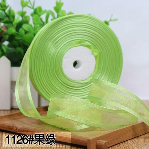 50 Yards Chiffon yarn ribbon diy handmade clothing material Headwear ribbon 20mm