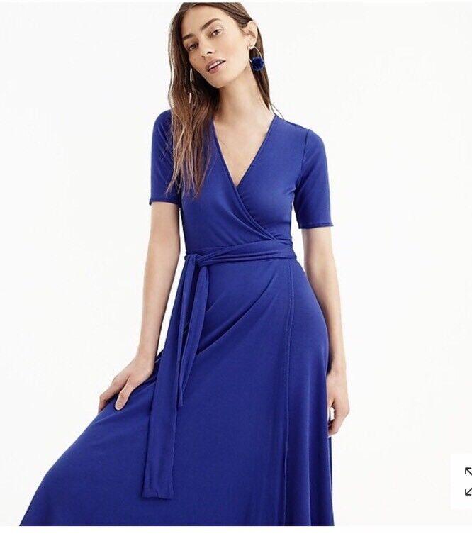 NWT J. Crew Royal Blau Knit Wrap Dress Größe XS Sold Out