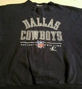 the best attitude 5fddf 4234a Details about RARE VINTAGE Dallas Cowboys NFL Football Pro Line Logo  Athletic Mens XL Sweater
