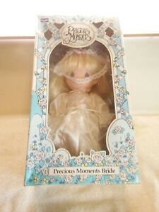 Vintage-Rose-Art-Precious-Moments-Bride-10-Vinyl-Doll-NIB-1992