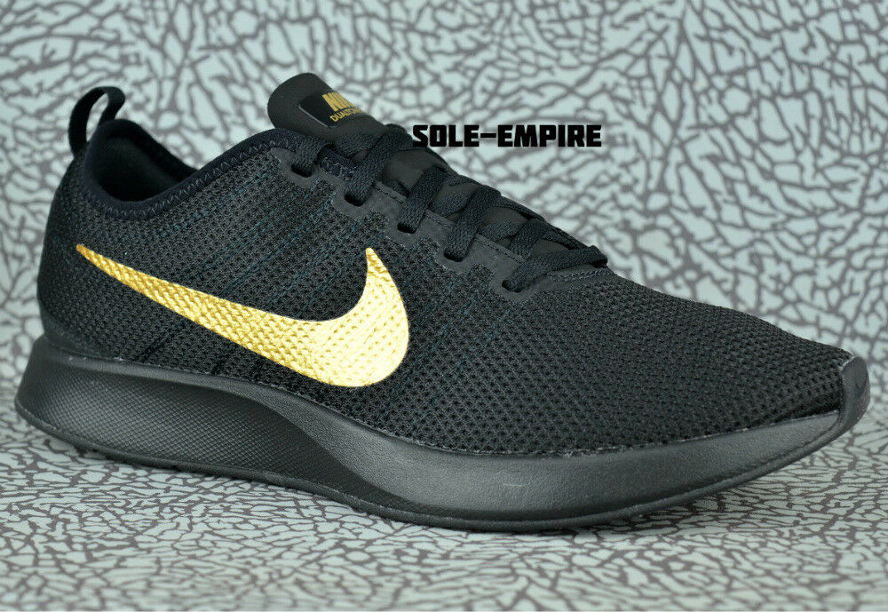 Nike Dualtone Racer 918227-007 Black Shoes Metallic Gold Mens Running Shoes Black NEW NO BOX 1fe8de