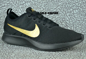 Nike-Dualtone-Racer-918227-007-Black-Metallic-Gold-Mens-Running-Shoes-NEW-NO-BOX