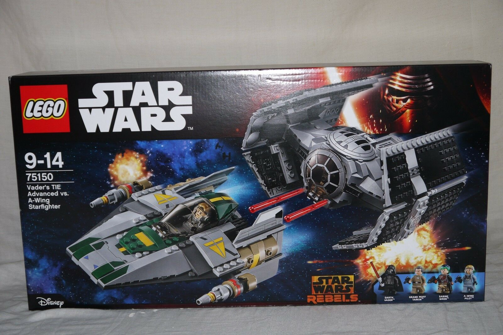 Lego 75150 VADER'S TIE ADVANCED vs A-WING STARFIGHTER - Brand new