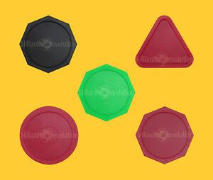 "Set of 5 Air Hockey Pucks-2-1/2"" Octagon/Triang<wbr/>le/Round-63mm Table Hockey Pucks"