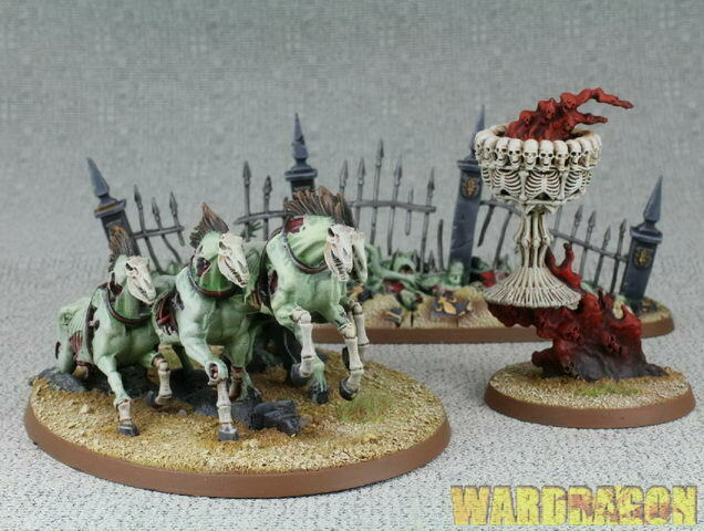 120mm Warhammer Age of Sigmar WDS målade Endless Spells Flesh -eater Courts g76