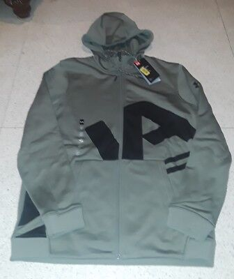 UNDER ARMOUR MENS COLD GEAR FLEECE FULL ZIP UP HOODIE 1320756 NWT