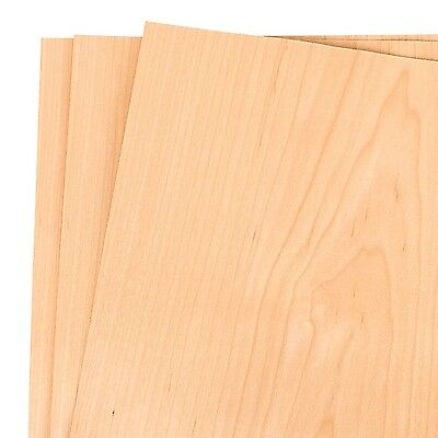 """Maple Wood Veneer 12/"""" x 12/"""" Pack of 5 Sheets 1//38/"""" thickness 1/' x 1/'"""