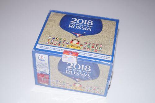 PANINI Russia 2018 World Cup 18-Display 100 pochettes 500 stickers neuf dans sa boîte 682 Edition