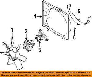 isuzu oem 98 04 rodeo 3 2l v6 cooling fan clutch bracket 8972317180 rh ebay com 92 Isuzu Rodeo Clutch Diagram Isuzu Clutch Fork