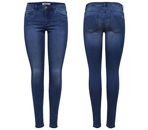 ONLY Damen Hose Leggings onlROYAL ROCK COATED NOOS Skinny Jeans regular schwarz