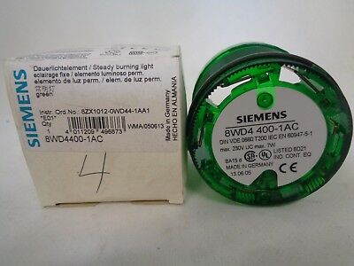 New Siemens 8wd4400 1ac Green Steady Stack Light Beacon Ebay