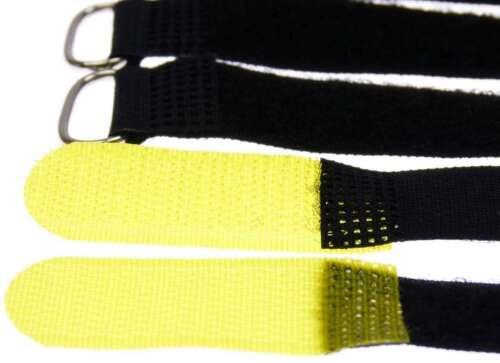 20 x Kabelklettband 20 cm x 20 mm gelb Klettband Klett Kabel Binder Band mit Öse