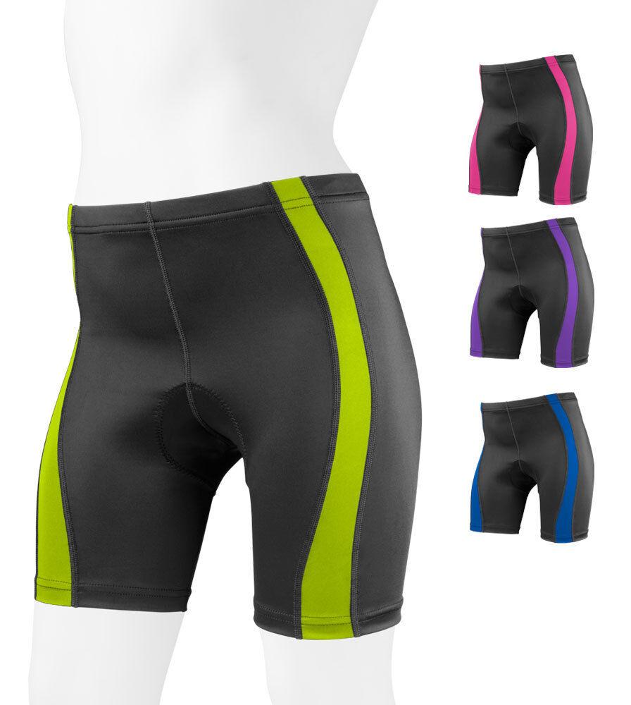 donna Aero Tech Designs classeic 2.0 Coloree Padded Cycling Bike Shorts USA fatto