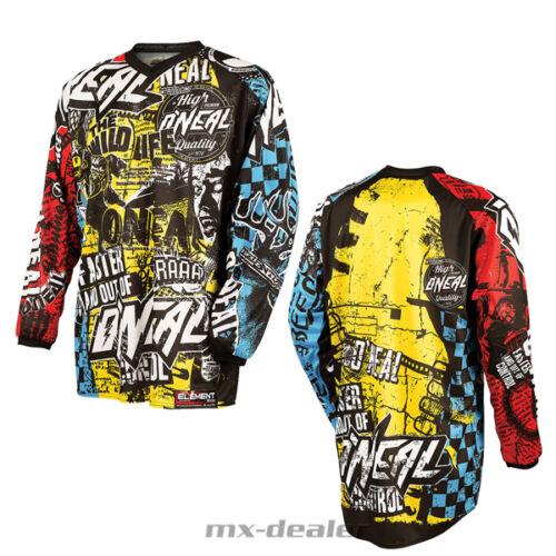 O 'Neal Element Bambini Jersey Wild Multi KIDS MAGLIA MX DH MTB BMX Motocross S