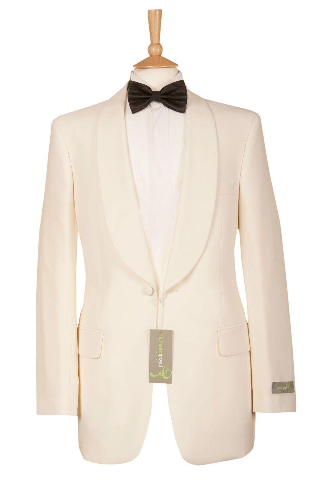 Ivory Shawl Collar Tuxedo Jacket