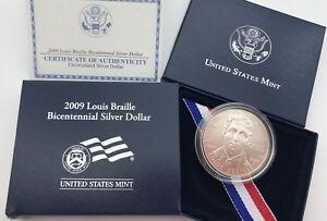 United States 2009 Silver $1 Dollar Coin Louis Braille Bicentennial Usa Zkaewc9y-07224751-229330769