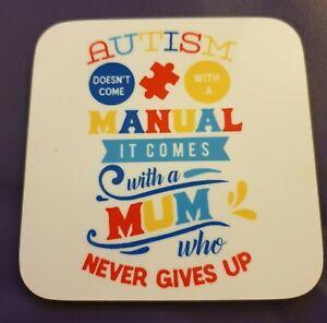 PerséVéRant Autism Awareness Coaster-afficher Le Titre D'origine Soyez Astucieux Dans Les Questions D'Argent