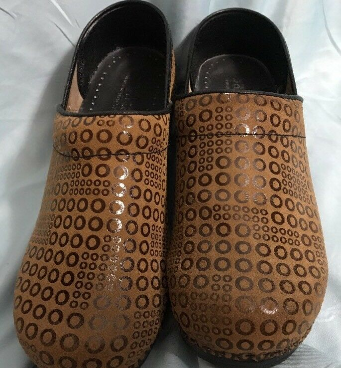 Sanita Danish Clogs Women's Size US  6.5 Light Brown Mules shoes