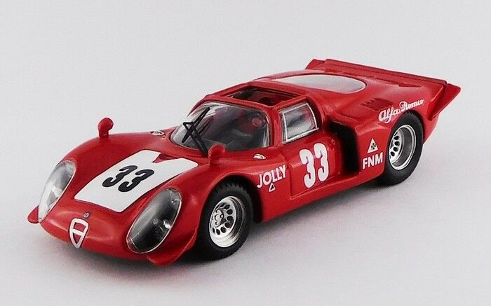 BEST MODEL BES9667 - Alfa romeo 33.20 Spyder 1er 3Hrs de Rio  Janeiro 1969 1/43