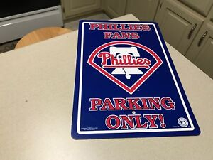 MLB-Philadelphia-Phillies-Baseball-Team-Fans-Only-Parking-Wall-Sign