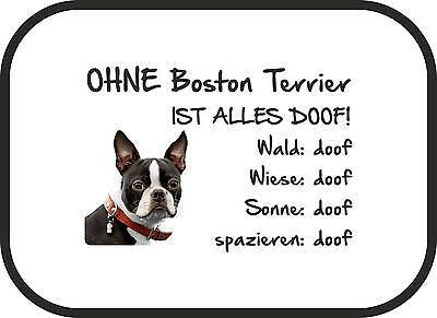 2er Set Auto Sonnenschutz Ohne American Pit Bull Terrier ist alles doof!