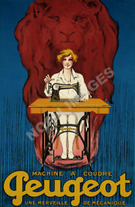 Singer Machines Coudre vintage sewing machine ad poster repro 16x24