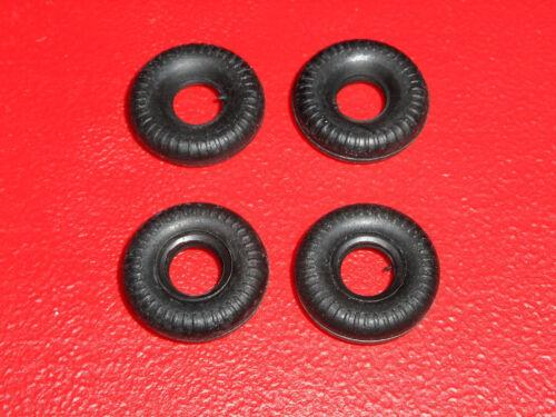 1042 1043 1041 4 Schuco Micro Racer TIRES black rubber replacements 1037,1040