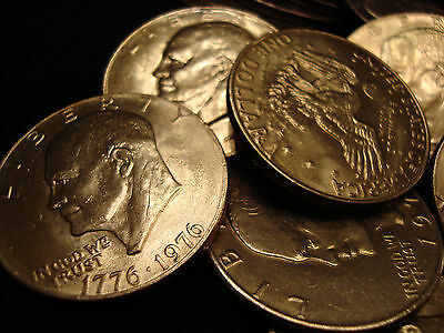 $500 Eisenhower SILVER Dollar HIGH GRADE Lot 1971-1978 EF TO UNcirculated Ike