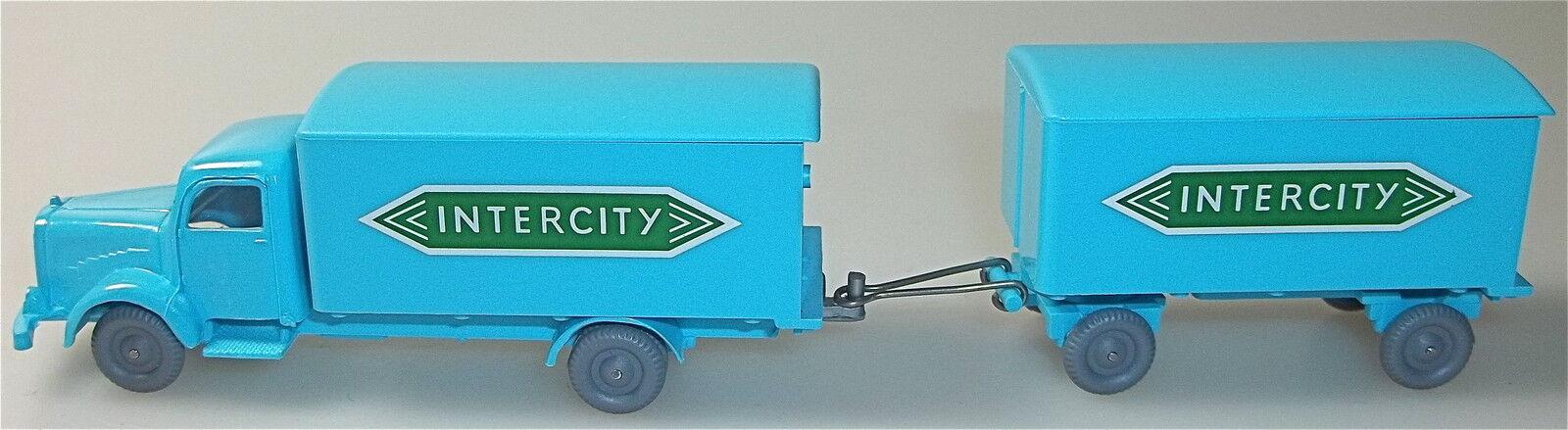 Intercity - mercedes 5000 h ä ngerzug hellblau gr ü n imu h0 nach   51   å