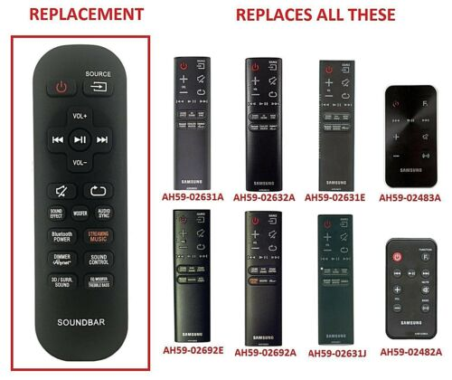 HW-J8501 Replacement Remote Control for Samsung HW-J8500