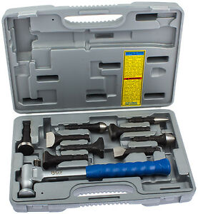 ausbeulwerkzeug ausbeul hammer set 10 tg ausbeulen werkzeug kfz karosserie blech ebay. Black Bedroom Furniture Sets. Home Design Ideas