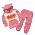 Kids Boys Baby Superhero Hoodies Sweatshirt Jumper Top T-Shirt 2Pcs Outfit Coat