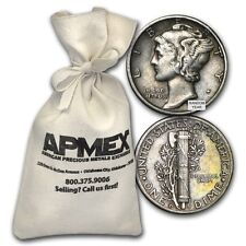 90% Silver Mercury Dime $50 Face-Value Bag Avg Circ - SKU #88199