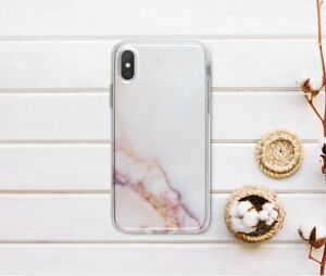 new product bd6d9 04d5b Details about Pink Marble iPhone X Case Silicone Cover For iPhone 5s 6 8  Plus Marbled Gel Case