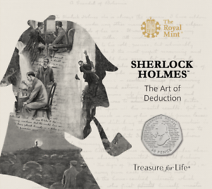 2019-Sherlock-Holmes-Brilliant-Uncirculated-Royal-Mint-50p-Fifty-Pence-Coin-Pack