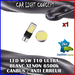 1-x-ampoule-Veilleuse-LED-W5W-T10-ULTRA-BLANC-XENON-6500k-voiture-auto-moto