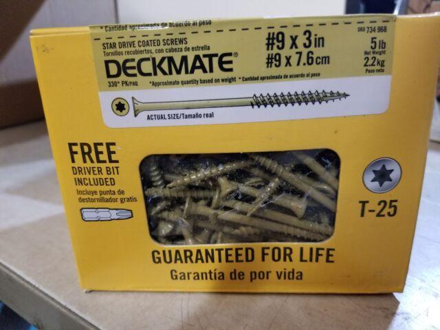 Star Flat-Head T-25 Wood Deck Screws 10 lbs. Deck Mate #9 x 2-1//2 in