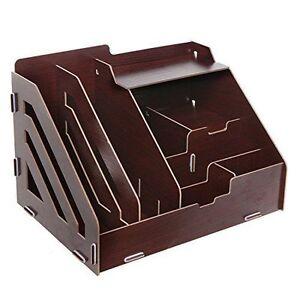 Mygift desktop shelf wood organizer magazine box storage - Desk shelf organizer ...