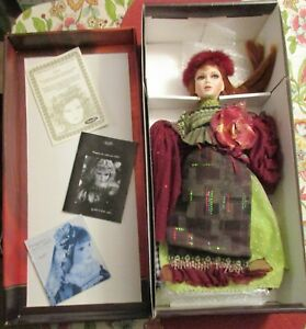 Rare-Porcelain-22-Doll-Marita-by-French-Christine-and-Cecile-Mundia-with-COA