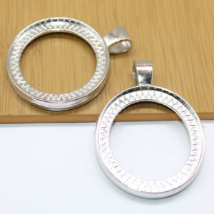 Two-sided-Round-Pendant-Trays-Fit-40mm-Cabochon-Base-Setting-Blank-Bezel-Frame