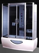 Cabina Idromassaggio 170x80 Box doccia Vasca Sauna Bagno Turco cromoterapia full